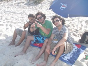 Zaher Zorgatti picture at the beach with his friends 2
