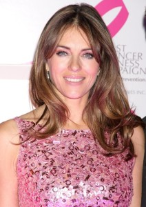 Elizabeth Hurley arrives at Bloomingdales PINK Lighting for Breast Cancer Awareness at Bloomingdales in New York City on October 12th 2009 1