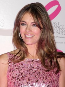Elizabeth Hurley arrives at Bloomingdales PINK Lighting for Breast Cancer Awareness at Bloomingdales in New York City on October 12th 2009 6