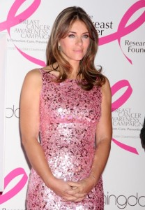 Elizabeth Hurley arrives at Bloomingdales PINK Lighting for Breast Cancer Awareness at Bloomingdales in New York City on October 12th 2009 7