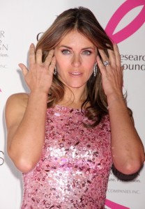 Elizabeth Hurley arrives at Bloomingdales PINK Lighting for Breast Cancer Awareness at Bloomingdales in New York City on October 12th 2009 10