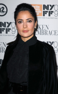 Salma Hayek was spotted in New York City at a special screening of the movie Broken Embraces on october 11th 2009 2