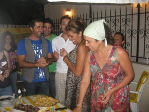 Amal Boshoshah photo with her friends and family at her birthday 7