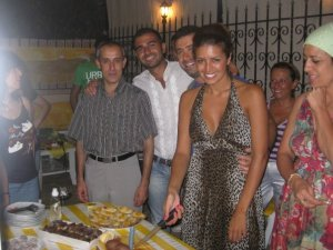 Amal Boshoshah photo with her friends and family at her birthday 8