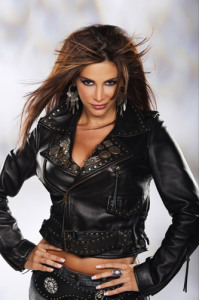 Nelli Maqdesi studio photo shoot in black leather outfit 3