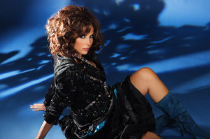 Lebanese singer Nelly Maqdesy picture from a beautiful studio shoot wearing a gypsy style outfit 5