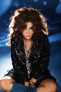 Lebanese singer Nelly Maqdesy picture from a beautiful studio shoot wearing a gypsy style outfit 9