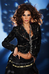 Lebanese singer Nelly Maqdesy picture from a beautiful studio shoot wearing a gypsy style outfit 12