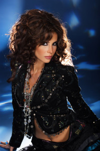 Lebanese singer Nelly Maqdesy picture from a beautiful studio shoot wearing a gypsy style outfit 7