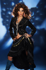 Lebanese singer Nelly Maqdesy picture from a beautiful studio shoot wearing a gypsy style outfit 1