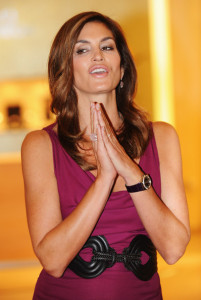 Cindy Crawford attends the opening of the Omega Boutique at The Village Westfield on October 15th 2009 in London England 7