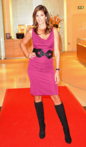 Cindy Crawford attends the opening of the Omega Boutique at The Village Westfield on October 15th 2009 in London England 8