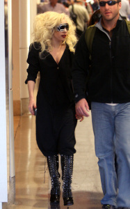 Lady GaGa was spotted arriving at Los Angeles International Airport on October 14th 2009 3