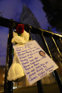 picture outside Stephen Gately funeral at St Laurence OToole Church on October 17th 2009 in Dublin Ireland