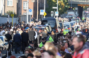 picture outside Stephen Gately funeral at St Laurence OToole Church on October 17th 2009 in Dublin Ireland 7