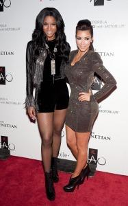 Kim Kardashian celebrates her Las Vegas birthday bash with Ciara at the trendy Tao Nightclub on October 16th 2009