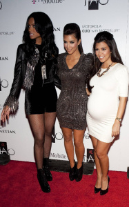 Kim Kardashian celebrates her Las Vegas birthday bash with Kourtney Kardashian and Ciara at the trendy Tao Nightclub on October 16th 2009 1