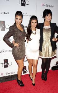 Kim Kardashian spotted at her Las Vegas birthday bash with Kourtney Kardashian and their mother Kris Jenner at the trendy Tao Nightclub on October 16th 2009 1