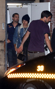 Vanessa Hudgens and Zac Efron photographed leaving a Spanish restaurant after watching a Vancouver Giants hockey game in Vancouver Canada on October 16th 2009 2