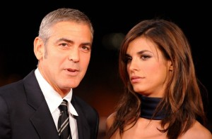 George Clooney and his girlfriend Elisabetta Canalis at the screening of his new movie Up in the Air held at the Auditorium Parco della Musica on October 17th at the Rome Film Festival in Italy 11