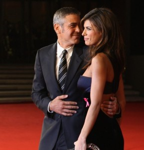 George Clooney and his girlfriend Elisabetta Canalis at the screening of his new movie Up in the Air held at the Auditorium Parco della Musica on October 17th at the Rome Film Festival in Italy 17