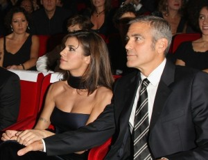 George Clooney and his girlfriend Elisabetta Canalis at the screening of his new movie Up in the Air held at the Auditorium Parco della Musica on October 17th at the Rome Film Festival in Italy 10