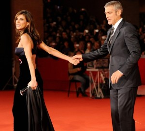 George Clooney and his girlfriend Elisabetta Canalis at the screening of his new movie Up in the Air held at the Auditorium Parco della Musica on October 17th at the Rome Film Festival in Italy 15