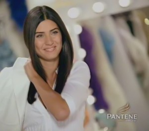 Tuba Buyukustun picture from Pantene hair shampoo promotional video advertisement 6