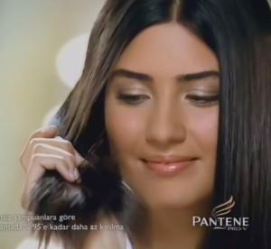Tuba Buyukustun picture from Pantene hair shampoo promotional video advertisement 2