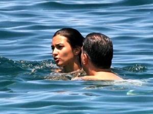 Tuba Buyukustun spotted swimming in the sea and hanging at the beach wearing a bikini 7