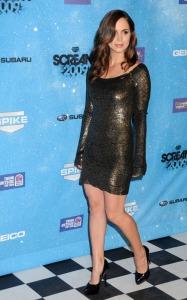 Eliza Dushku arrives at the Spike TVs 2009 Scream Awards
