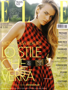 Filippa Hamilton photo On the cover of Italian Elle magazine of September 2008