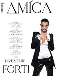 Filippa Hamilton photo On the cover of Italian Amica magazine issue of January 2004