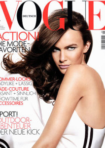 Filippa Hamilton photo On the cover of German Vogue magazine in May 2005