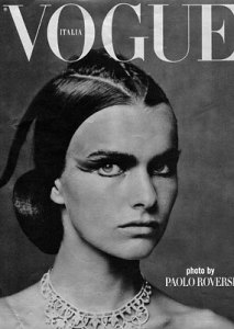 Filippa Hamilton photo On the cover of Italian Vogue in September 2001