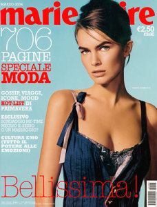 Filippa Hamilton photo On the cover of Italian Marie Claire issue of March 2004