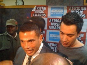 Amr Diab arrives at the 2009 African Music Awards on October 19th 2009 2