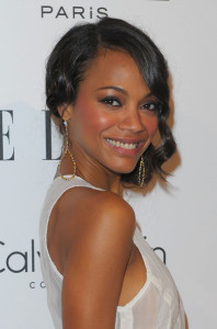 Zoe Saldana attends the 16th Annual ELLE Women in Hollywood Tribute on October 19th, 2009