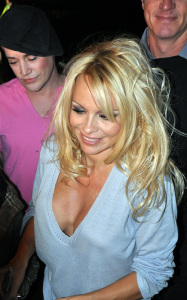 Pamela Anderson attending a PETA benefit dinner at the Ultra restaurant in Toronto Canada on October 22nd 2009 1