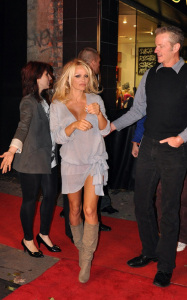 Pamela Anderson attending a PETA benefit dinner at the Ultra restaurant in Toronto Canada on October 22nd 2009 4