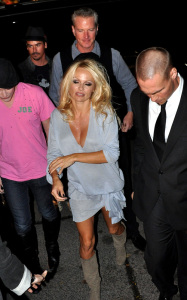 Pamela Anderson attending a PETA benefit dinner at the Ultra restaurant in Toronto Canada on October 22nd 2009 2
