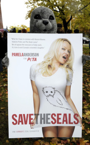 Pamela Anderson participates at the PETAs new campaign against Canadas commercial seal slaughter outside the Ontario Legislative Building on October 23rd 2009 3