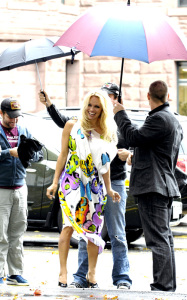 Pamela Anderson participates at the PETAs new campaign against Canadas commercial seal slaughter outside the Ontario Legislative Building on October 23rd 2009 1