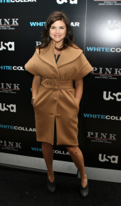 Tiffani Thiessen attends the movie premiere of White Collar Shirt Bar held at the Rockefeller Center in New York City on October 23rd 2009 2