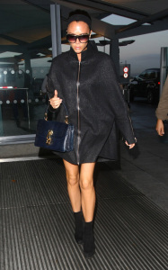 Victoria Beckham was spotted arriving at Heathrow Airport in London on October 23rd 2009 2