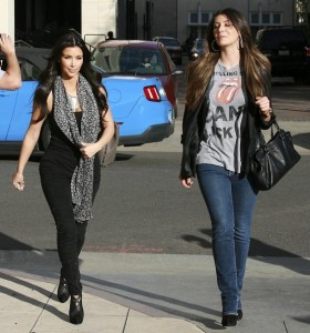 Kim Kardashian and Brittny Gastineau spotted shopping at Burberry in Beverly Hills on October 24th 2009 2