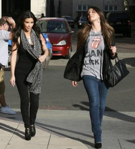 Kim Kardashian and Brittny Gastineau spotted shopping at Burberry in Beverly Hills on October 24th 2009 3