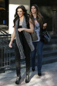 Kim Kardashian and Brittny Gastineau spotted shopping at Burberry in Beverly Hills on October 24th 2009 5