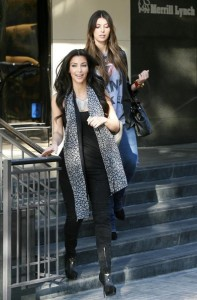 Kim Kardashian and Brittny Gastineau spotted shopping at Burberry in Beverly Hills on October 24th 2009 7