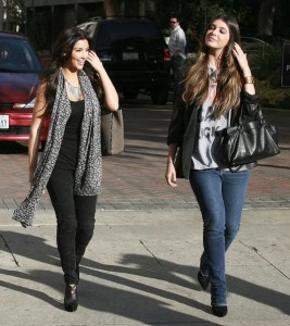 Kim Kardashian and Brittny Gastineau spotted shopping at Burberry in Beverly Hills on October 24th 2009 4